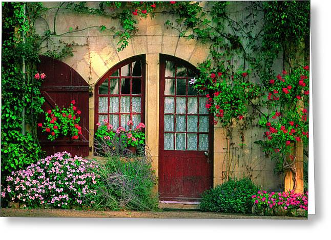 France Doors Digital Art Greeting Cards - Honey Stone House Greeting Card by John Galbo
