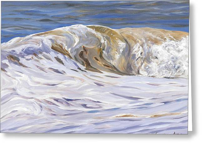 Coloured Greeting Cards - Honey Wave Greeting Card by Lawrence Dyer