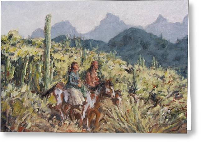 Honeymoon Trail Greeting Card by Gretchen Price