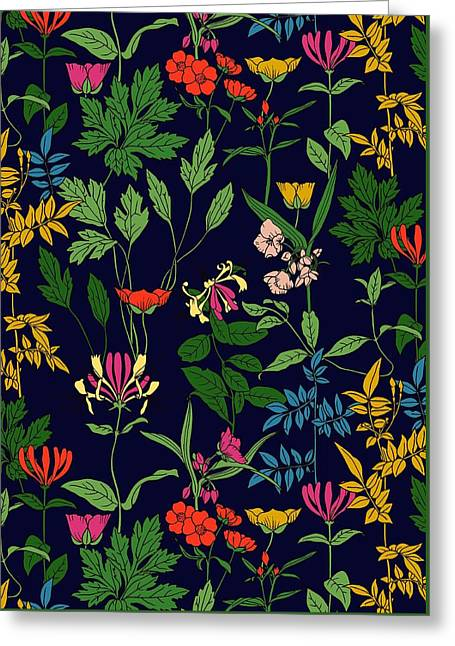 Honeysuckle Floral Greeting Card by Sholto Drumlanrig
