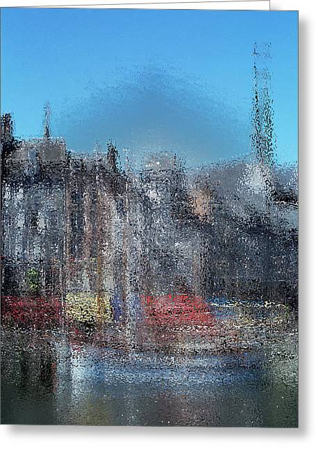 Pointillisme Greeting Cards - Honfleur impression Greeting Card by Christian Simonian