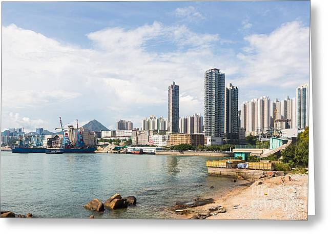 China Beach Greeting Cards - Hong Kong beach Greeting Card by Didier Marti