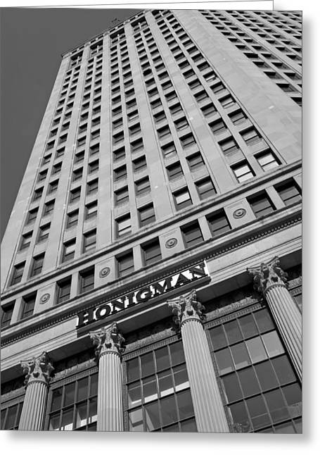 Bas-relief Greeting Cards - Honigman Fashion - Downtown Detroit Greeting Card by MB-7123-Smiles