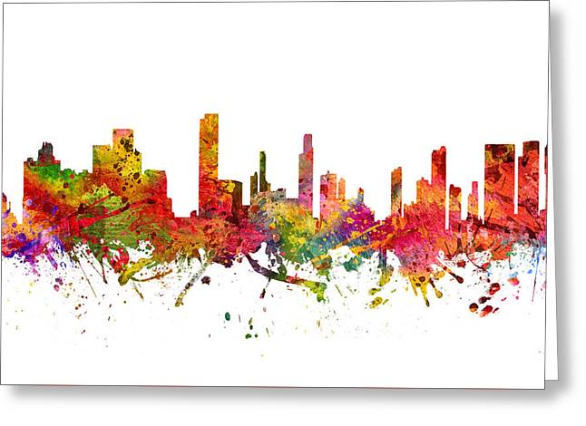 Honolulu Greeting Cards - Honolulu Cityscape 08 Greeting Card by Aged Pixel