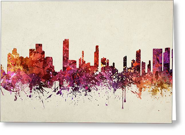 Honolulu Greeting Cards - Honolulu Cityscape 09 Greeting Card by Aged Pixel