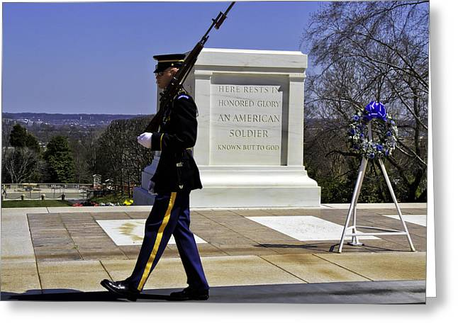 Honor Guard Greeting Card by Rebecca Snyder