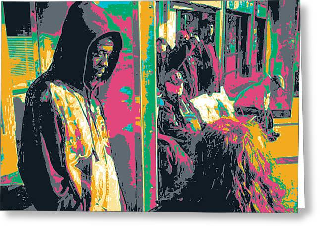 African-american Greeting Cards - Hood Greeting Card by Shay Culligan