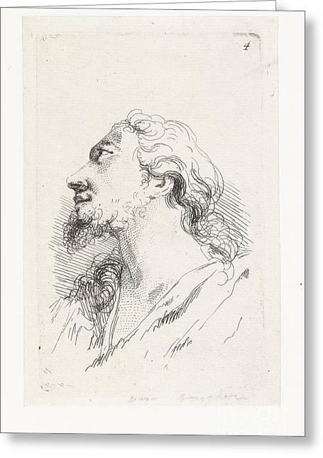 Hoofd Van Christus Greeting Card by Celestial Images