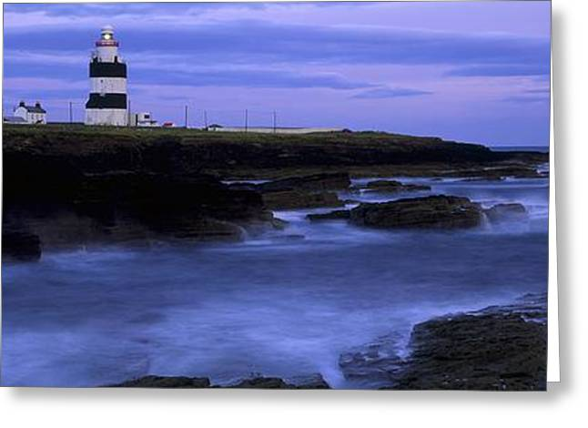 Long Shot Greeting Cards - Hook Head Lighthouse, Co Wexford Greeting Card by The Irish Image Collection