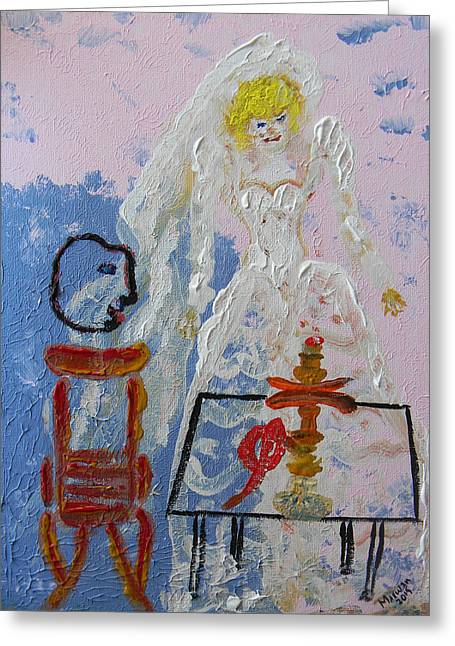 Canadian Photographer Paintings Greeting Cards - Hookah and the Bride Greeting Card by Marwan George Khoury
