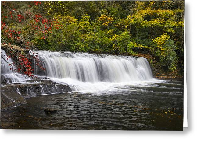 Hooker Falls In Autumn - Dupont State Forest Nc Greeting Card by Dave Allen