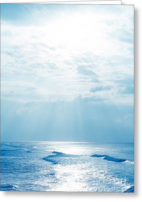 Hookipa Beach Blue Sensation Greeting Card by Sharon Mau
