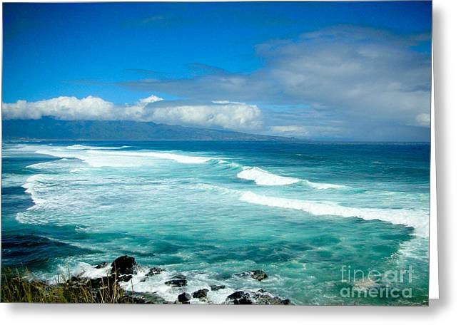 Wind Surfing Greeting Cards - Hookipa Beach  Greeting Card by Kelly Wade