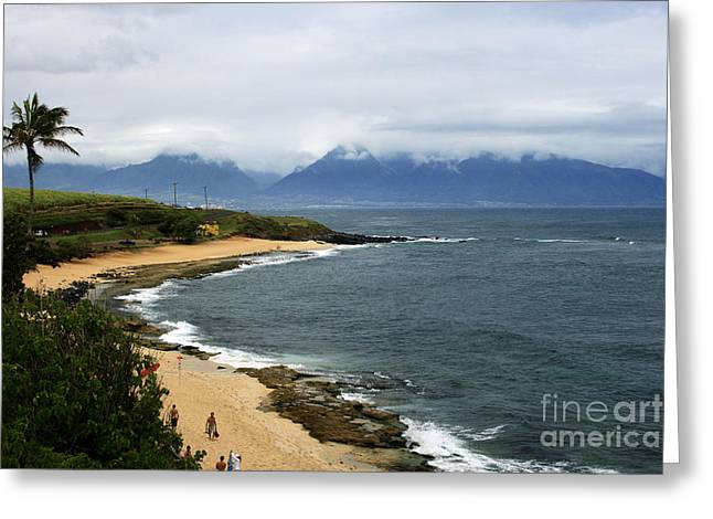 Ourjrny Greeting Cards - Hookipa Beach Maui North Shore Hawaii Greeting Card by Sharon Mau