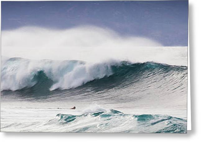 Hookipa Maui Big Wave Greeting Card by Denis Dore
