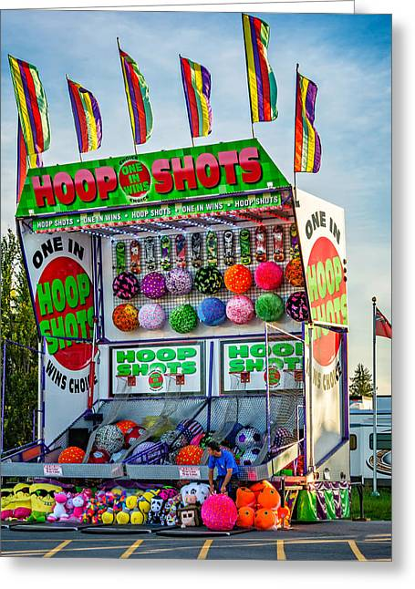 Hoop Shots 2 Greeting Card by Steve Harrington