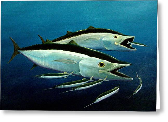 Wahoo Greeting Cards - Hoos King Greeting Card by Dave Combs