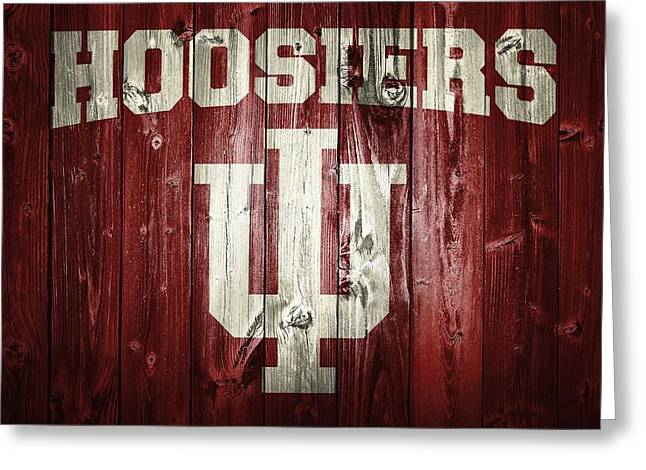 Barn Door Digital Greeting Cards - Hoosiers Barn Door Greeting Card by Dan Sproul