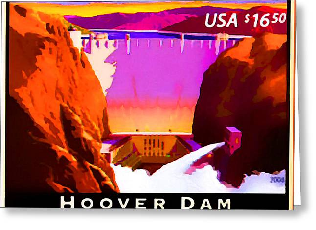 Hoover Dam 1 Greeting Card by Lanjee Chee