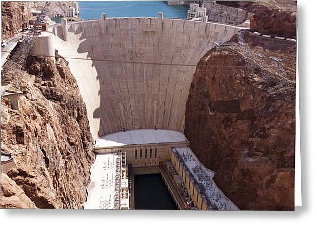 Hoover Dam II Greeting Card by Ricky Barnard