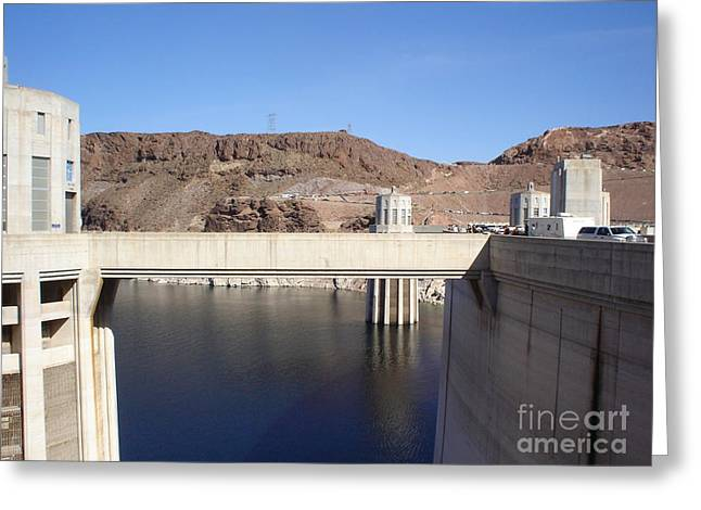 Hoover Dam Greeting Card by Jacqueline Barth