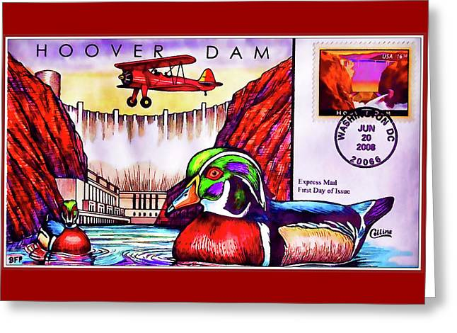 Hoover Dam Greeting Card by Lanjee Chee