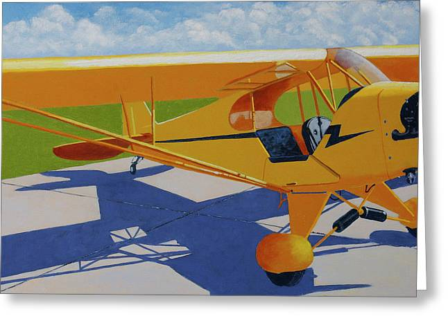Piper Cub Greeting Cards - Hop in Greeting Card by Ron Smothers