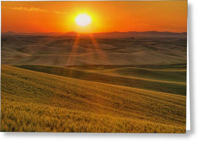 Field. Cloud Photographs Greeting Cards - Hope and Glory Greeting Card by Mark Kiver