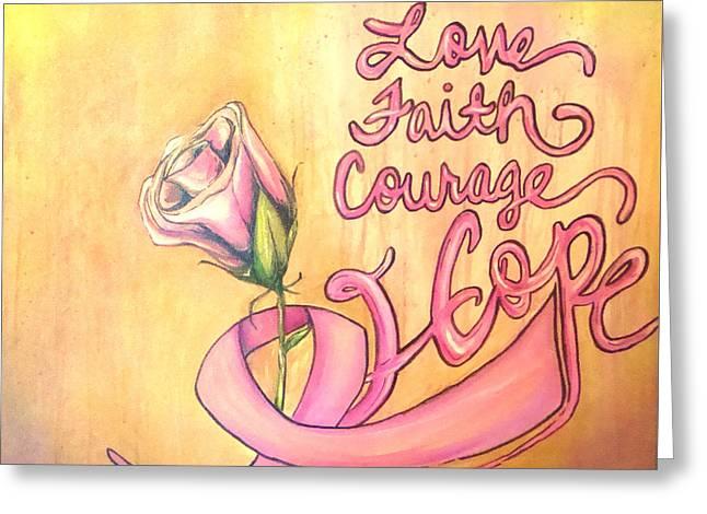 Courage Paintings Greeting Cards - Hope  Greeting Card by Devon  Ingram