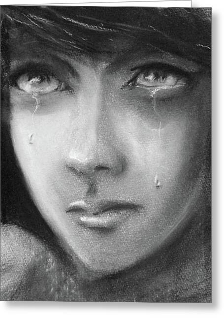 Weeping Drawings Greeting Cards - Hope Greeting Card by Ian MacQueen