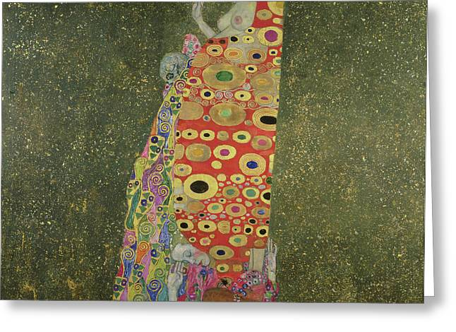 Hope II Greeting Card by Gustav Klimt