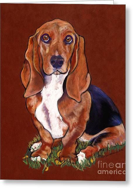 Dog Pastels Greeting Cards - Hope Greeting Card by Pat Saunders-White