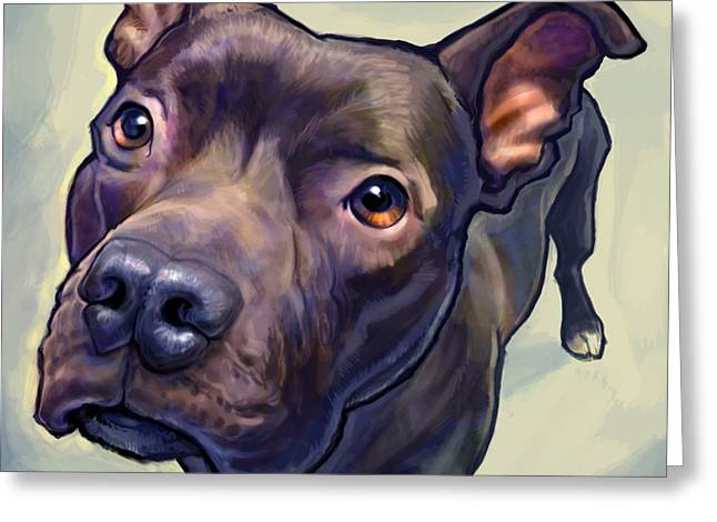 Dog Portraits Greeting Cards - Hope Greeting Card by Sean ODaniels