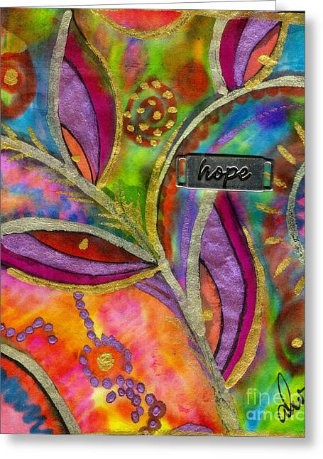 Survivor Art Greeting Cards - Hope Springs Anew Greeting Card by Angela L Walker