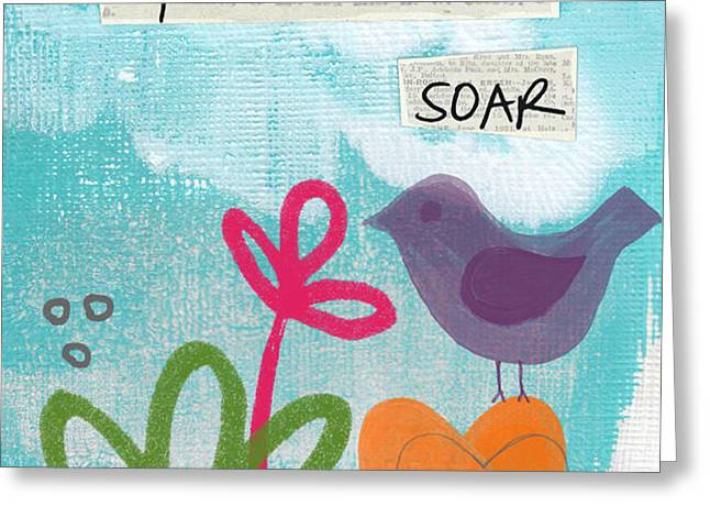 Hopes and Dreams Soar Greeting Card by Linda Woods