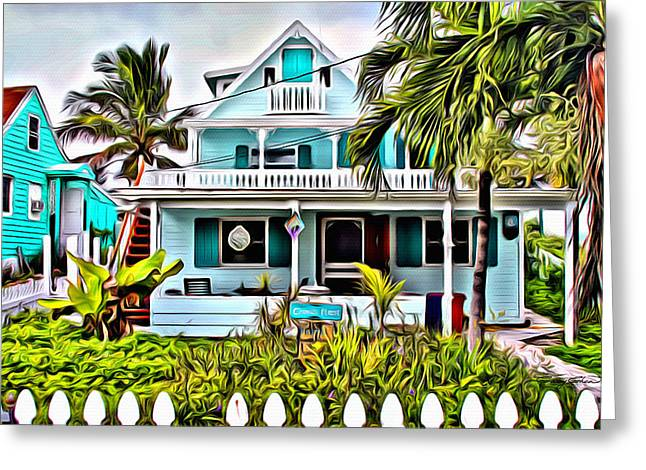 Bamboo Fence Digital Greeting Cards - Hopetown Homes Greeting Card by Anthony C Chen