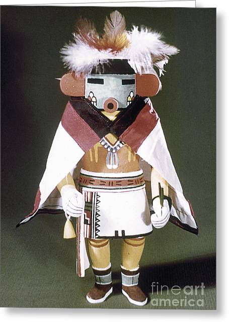 Kachina Greeting Cards - Hopi Kachina Doll Greeting Card by Granger