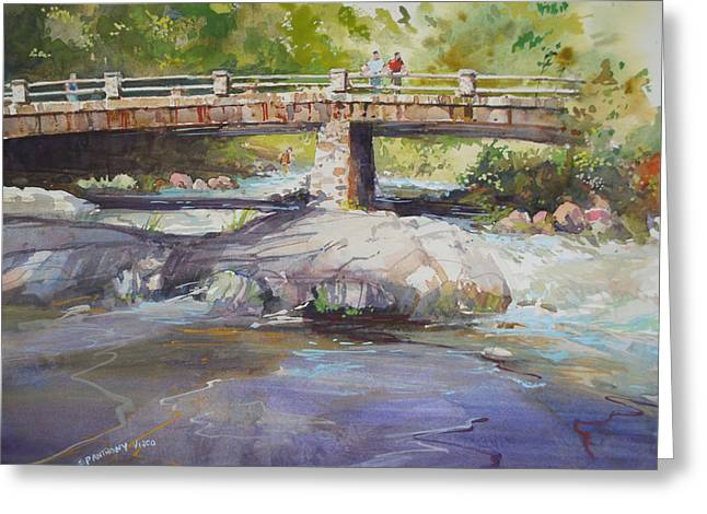 Fishing Creek Greeting Cards - Hopper Bridge Creek Greeting Card by P Anthony Visco