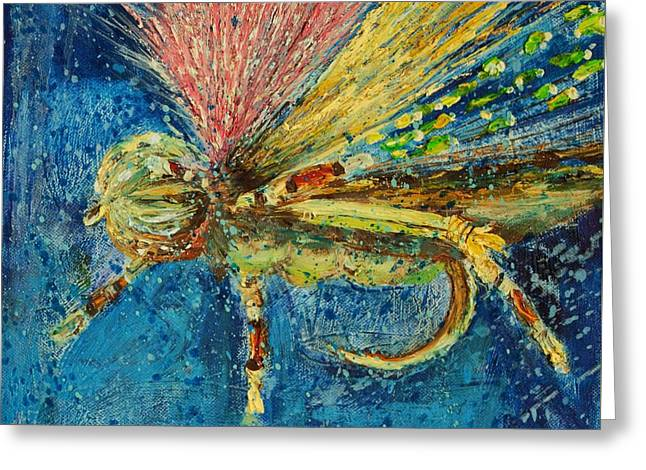 Hopper Fly Greeting Card by Jodi Monahan