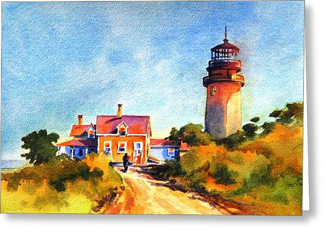 Hopper Greeting Cards - Hoppers Light No 1 Greeting Card by Virgil Carter