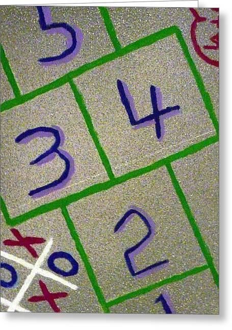 Hopscotch Greeting Cards - Hopscotch Greeting Card by Larry Albertson