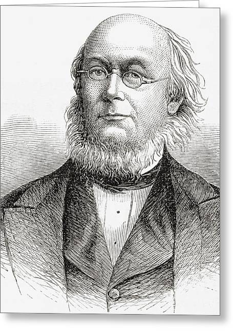 Republican Drawings Greeting Cards - Horace Greeley 1811 To 1872. American Greeting Card by Ken Welsh