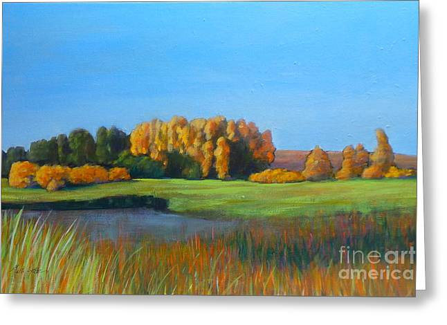 Fall Trees Greeting Cards - Horan Reserve Greeting Card by Marti Lyttle