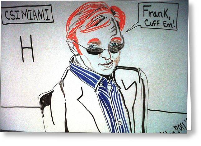 Miami Heat Mixed Media Greeting Cards - Horatio  Greeting Card by Allen Walters