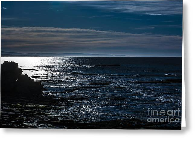 Reflex Greeting Cards - Horizon-blue Greeting Card by Runaldo Ferre