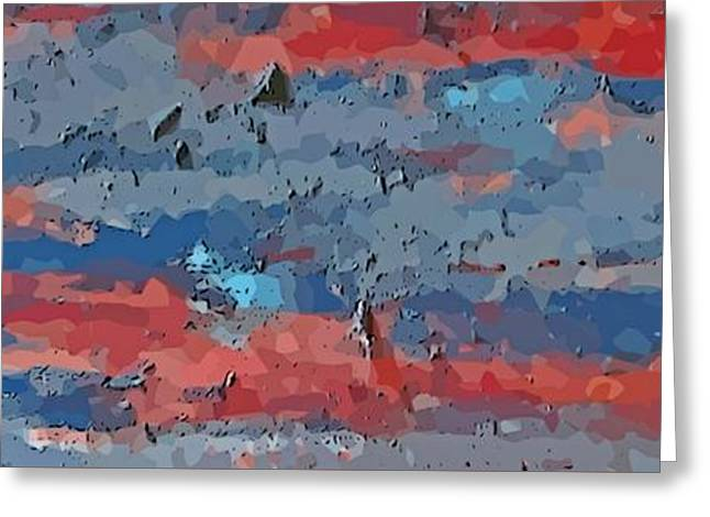Horizontal Abstraction Greeting Card by John Malone