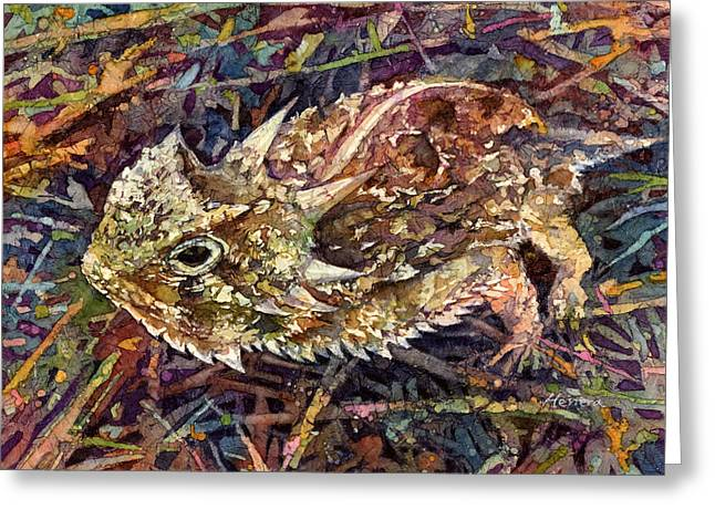 Horned Toad Greeting Card by Hailey E Herrera