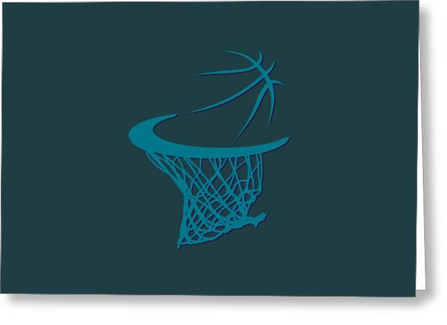 Basket Ball Greeting Cards - Hornets Basketball Hoop Greeting Card by Joe Hamilton