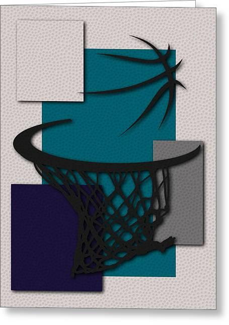 Dunk Greeting Cards - Hornets Hoop Greeting Card by Joe Hamilton