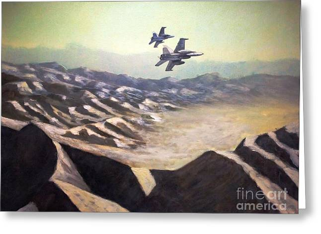 Usmc Greeting Cards - Hornets over Afghanistan Greeting Card by Stephen Roberson